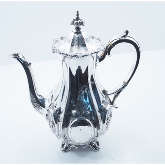 Antique SUPERB VICTORIAN SILVER PLATED COFFEE POT