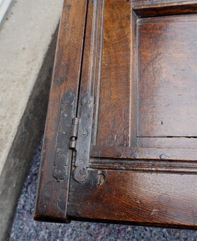Antique BABY SIZE 17th CENTURY CARVED OAK COFFER