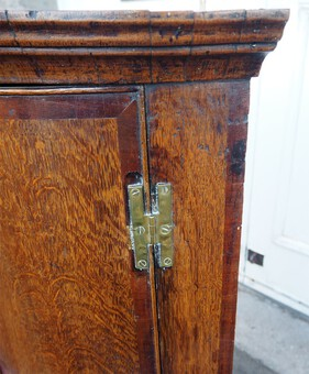 Antique 18th Century Oak & Walnut Corner Cabinet