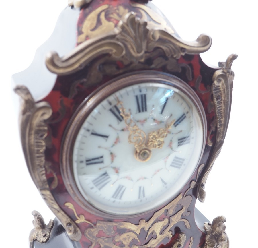 Antique 19th CENTURY FRENCH BOULLE MANTEL CLOCK