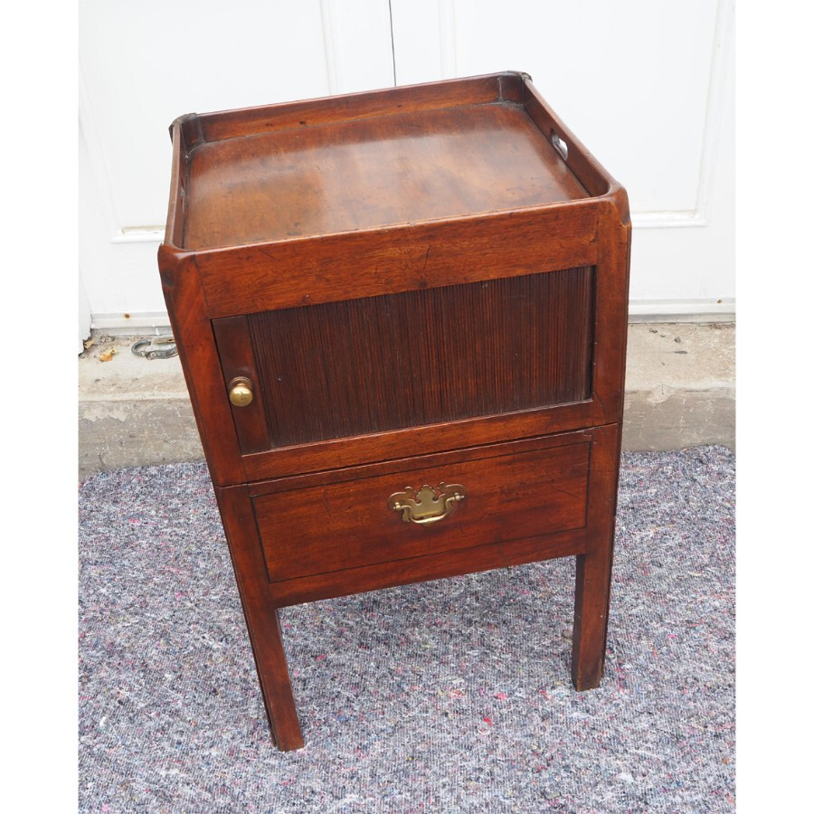 GEORGIAN MAHOGANY BEDSIDE COMMODE