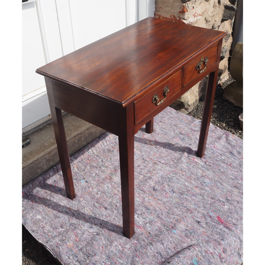 Antique GEORGIAN MAHOGANY SINGLE DRAWER SIDE TABLE