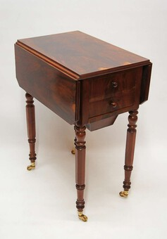 Victorian Rosewood 2 drawer drop leaf work table lovely colour