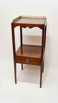 Georgian  Mahogany, 2 tier wash stand, bedside table or  plant stand