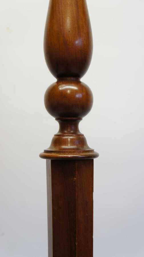 Antique Good quality early 20th c Mahogany standard lamp (157cm)