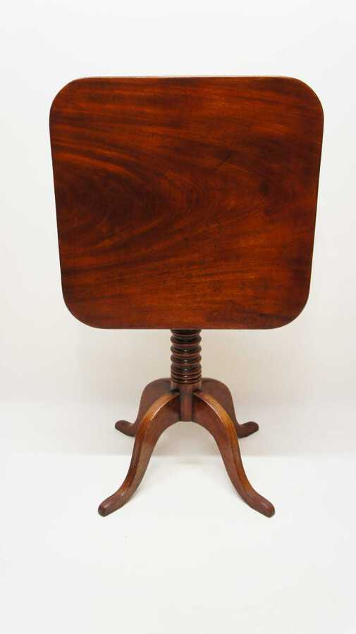 Late Georgian tilt top,  Mahogany occasional or wine table.