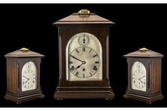 Kienzle Clock Company Large and Impressive German 8 Day Chiming Mahogany Cased Bracket Clock