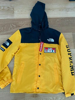 Antique Supreme X The North Face Expedition Coaches Jacket Yellow XL