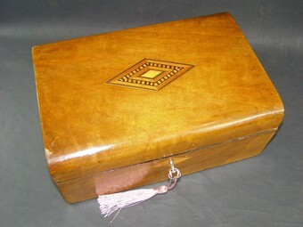 Antique Victorian Antique Mahogany Domed Writing Slope Document box Tunbridge Centre