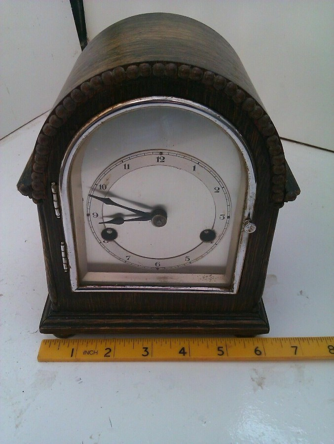 VERY RARE ANTIQUE VINTAGE GUSTAV BECKER MANTEL CLOCK IN FULL WORKING ORDER