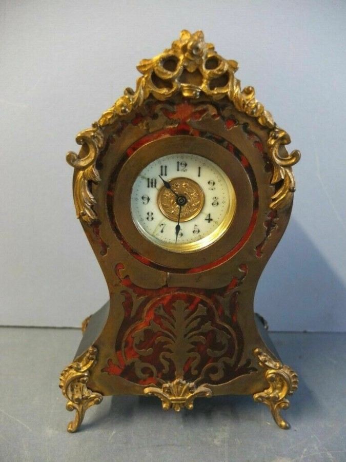Rare Antique Boulle Gilt Clock