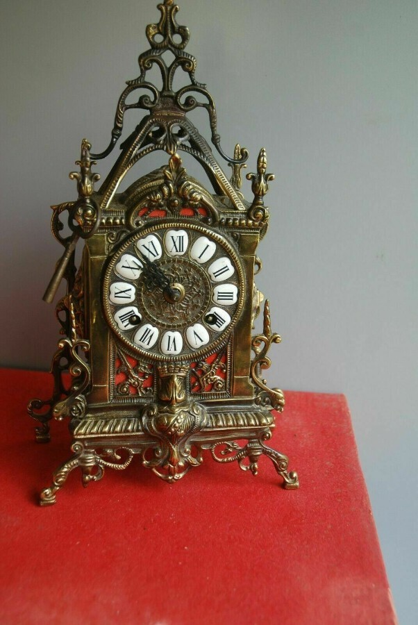 Very rare Antique French Boulle Ormolu Mantel Clock