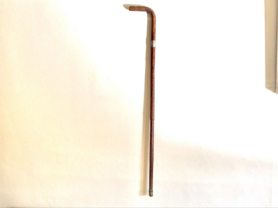 Gentlemans Walking Stick with Silver Victorian Mount