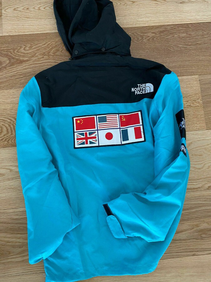 Antique Supreme X The North Face Expedition Coaches Jacket Blue XL