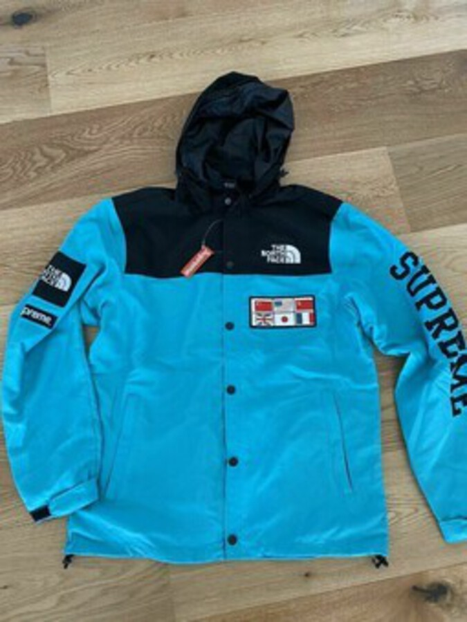 Supreme X The North Face Expedition Coaches Jacket Blue L