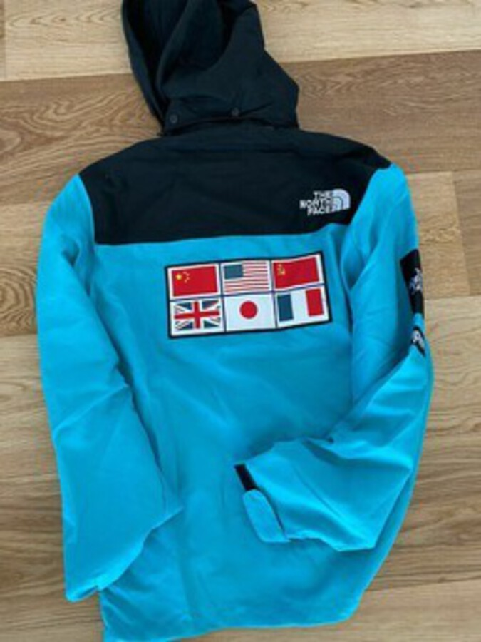 Antique Supreme X The North Face Expedition Coaches Jacket Blue XXL