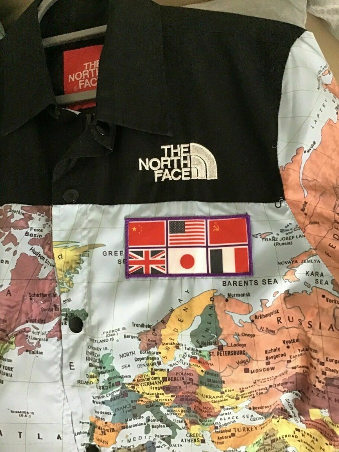 Supreme X The North Face Expedition Coaches Jacket World Map XL