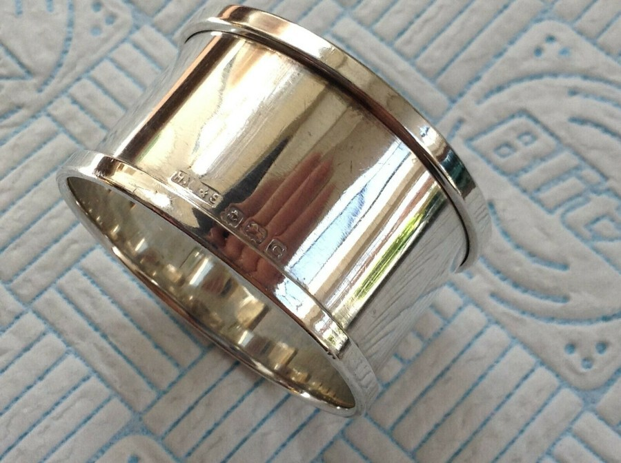 1931 Antique Sterling Silver Napkin Ring Henry Griffith & Sons Ltd