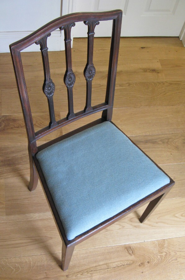 Antique Late 19thC Mahogany Sheraton Style Side Chair attributed to Waring & Gillow