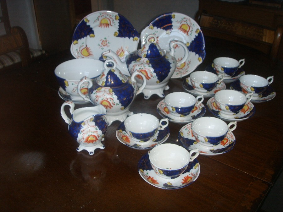 Antique TEA FOR TEN in GAUDY WELSH. LOTS of it.