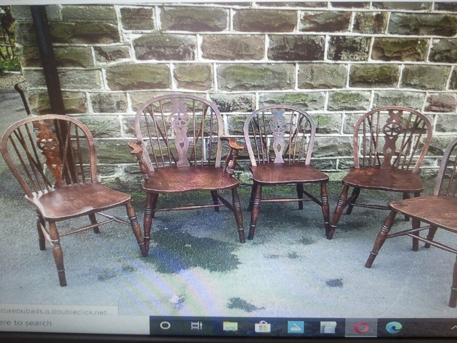 ASH & ELM Country Farmhouse style Victorian Chairs.