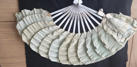Antique 1903 Paper Hand Fan