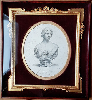 LIND, Jenny 1820-1887 Engraving by W. Roffe after F. Roffe of the bust by J. Durham.