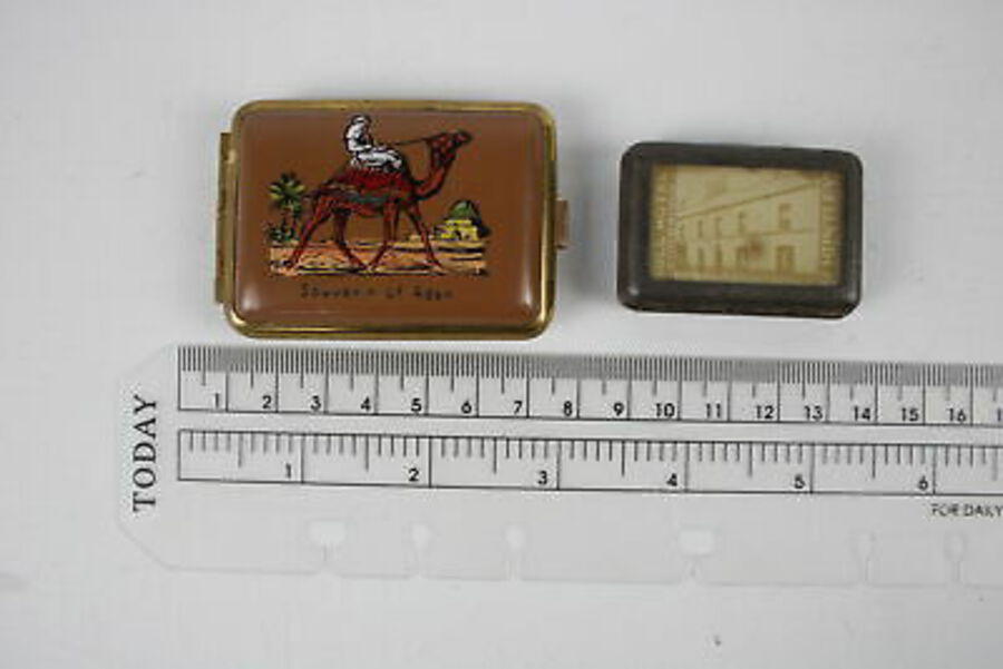 Antique 5 x Antique / Vintage VESTA Cases & MATCH Box Covers Inc Brass, Advertising Etc