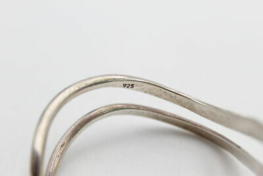 Antique .925 Sterling Silver Modernist CUFF BANGLE (23g)