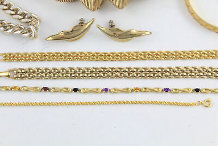 Antique 20 x Vintage 1980's JEWELLERY w/ Gold Tone, Pierre Cardin, Necklaces, Statement