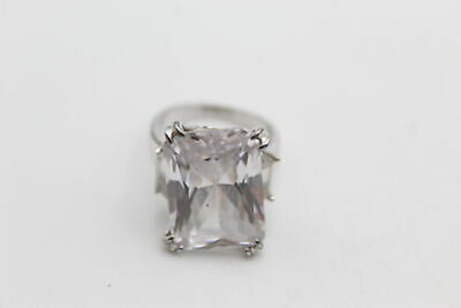 Antique 3 x .925 Sterling Silver RINGS inc. CZ, Square Cut, Statement (23g)