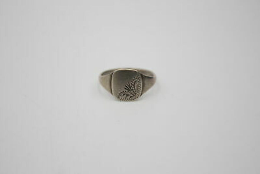 Antique 3 x .925 Sterling Silver RINGS inc. Signet, Engraved, 1976 Hallmark (12g)