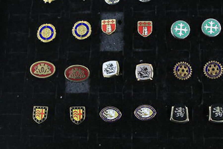 Antique 20 x Vintage Gents CUFFLINKS inc. Coat Of Arms, Enamel, Gold Tone, Statement
