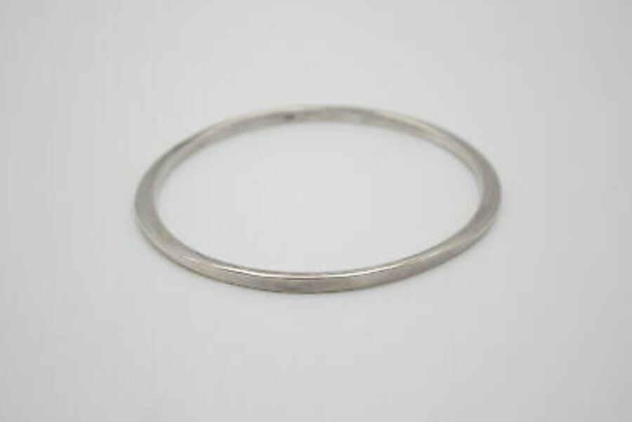 Antique 3 x .925 Sterling Silver BANGLES inc. Modernist, Square Design, Minimalist (32g)