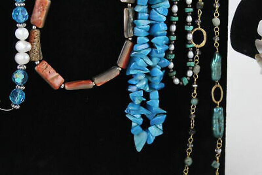 Antique 20 x PEARL & Shell JEWELLERY Inc. MOP, Dyed, Necklace, Brooch, Earrings