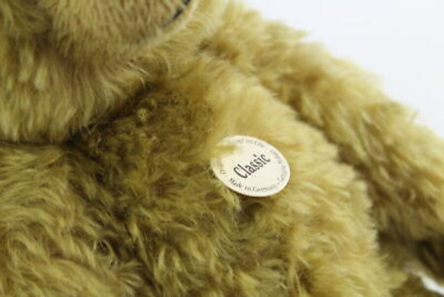 Antique STEIFF Classic Series Growler Mohair Jointed Teddy Bear 004810 w/ Original Tags