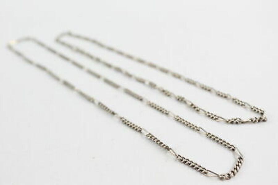 Antique 2 x .925 Sterling Silver CHAINS inc. Figaro Link (30g)