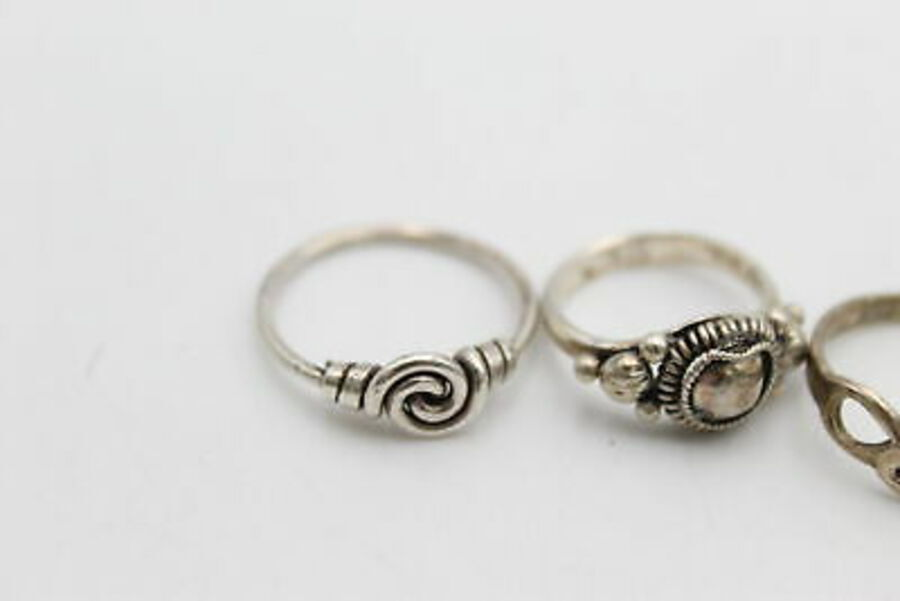 Antique 5 x .925 Sterling Silver RINGS inc. Ornate, Star, Celtic Style (12g)