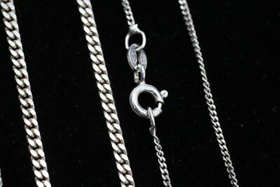 Antique 4 x Vintage .925 Sterling Silver Curb Link CHAINS (26g)