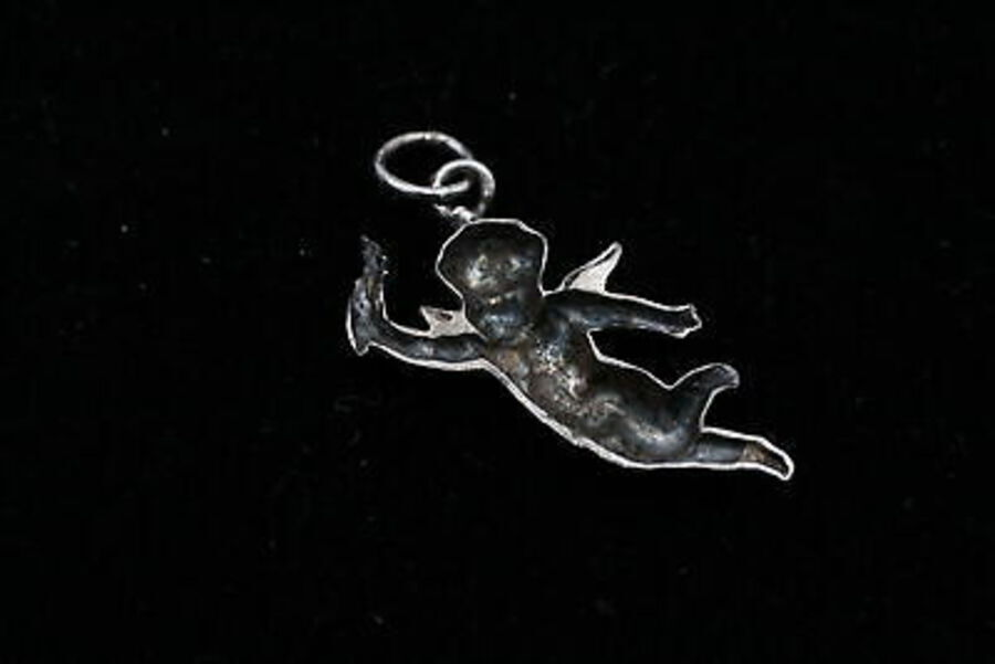 Antique 4 x Vintage .925 Sterling Silver CHARMS / PENDANTS inc. Articulated, Bears (10g)