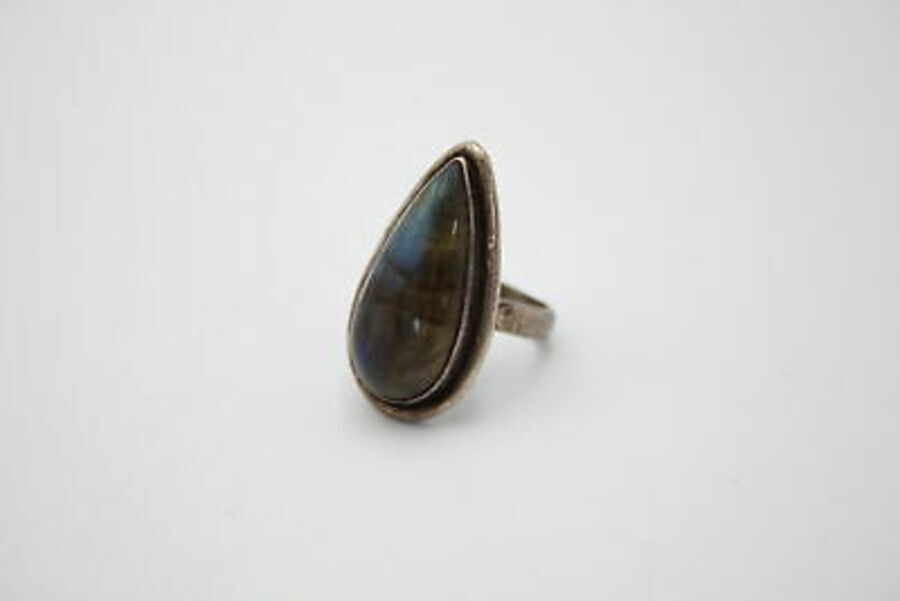 Antique 3 x .925 Sterling Silver RINGS inc. Labradorite Set, Patterned, Statment (23g)