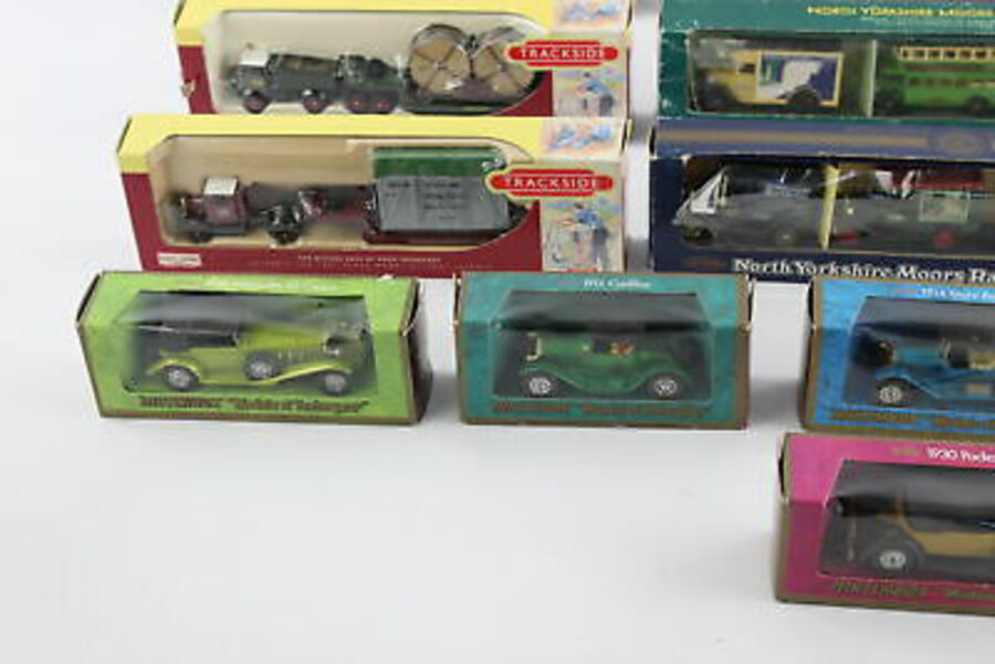 Antique 15 x Assorted Boxed DIECAST Models Inc. Lledo Trackside, Matchbox, NYMR Etc Etc