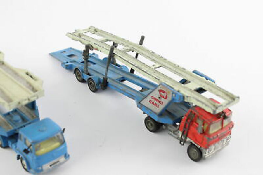 Antique 2 x Vintage CORGI Carrimore Car Transporter Diecast Models Inc. Bedford, Ford