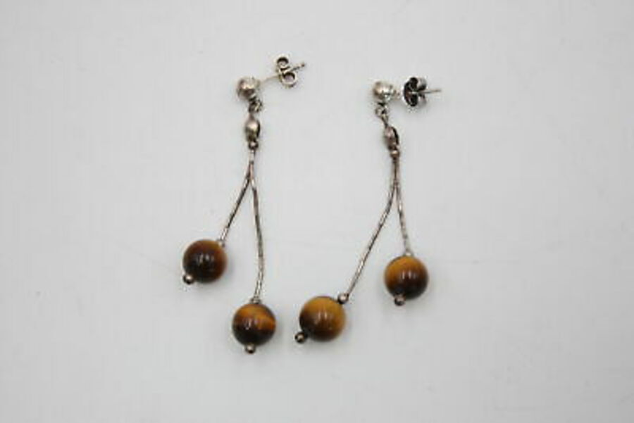 Antique .925 Sterling Silver CAROLYN POLLACK JEWELLERY SET inc. Tigers Eye (15g)