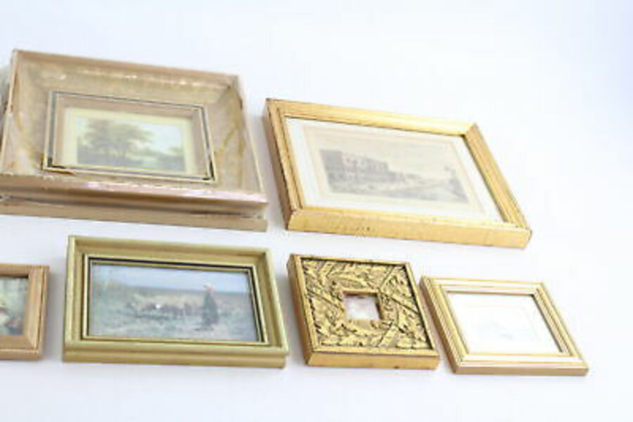 Antique 12 x Antique / Vintage Decorative Art Hangings Inc Gold Gilt Wood, Birds, Nature