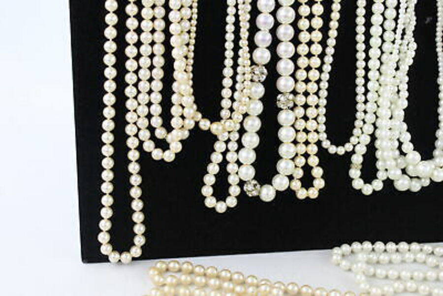 Antique 40 x Faux Pearl JEWELLERY Inc. Marvella, Multi-Strand, Necklace, Bracelet