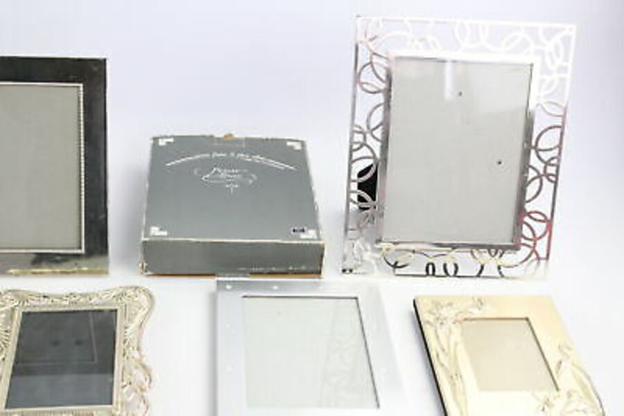 Antique 18 x Vintage Silver Plate Picture Frames Inc. Albums, Boxed, Family Tree, Floral