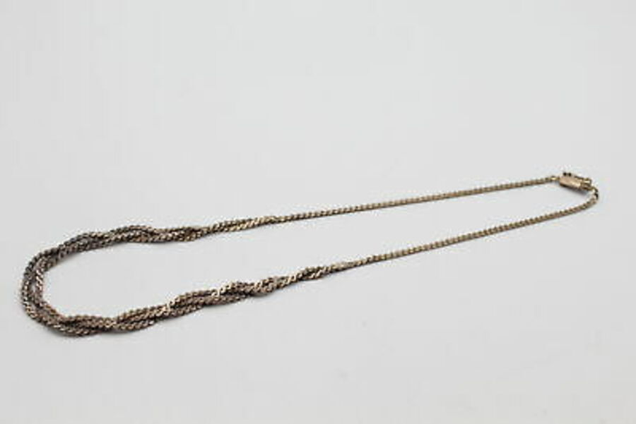 Antique 2 x Vintage .925 Sterling Silver CHAINS inc. Serpentine Link, Wheat (31g)