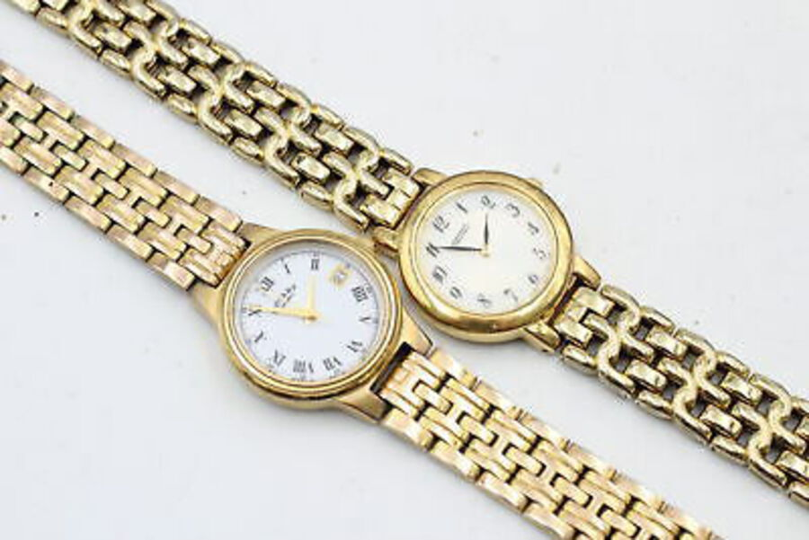 Antique 8 x Quality Ladies Gold Tone WRISTWATCHES Quartz WORKING Inc. Seiko, Rotary Etc