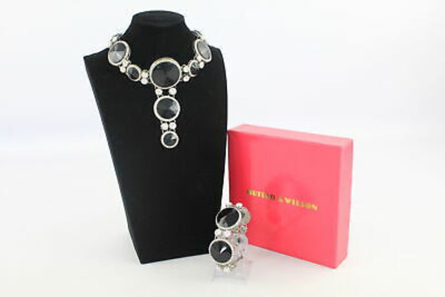 Antique Signed BUTLER & WILSON NECKLACE & BRACELET SET inc. Boxed